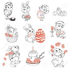 Easter Egg Decorating Bunny by Happy Easter Cute Easter Bunny Sitting In A Basket Juggling