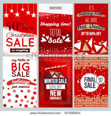 set abstract flat sale cards banners stock vector 516812416