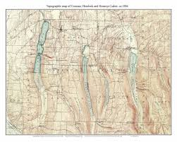 New Mexico Topographic Map by Conesus Hemlock U0026 Honeoye Lakes 1904 Usgs Old Topographic