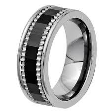 gear wedding ring 7mm mens cool titanium wedding band wheel gear with black