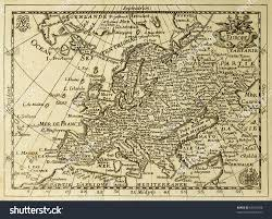 Poe Maps Old Map Europe Parallels Meridians May Stock Photo 55516558