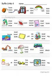 Oa Worksheets Suffix Links 3 Oa Ow Oe O E Phonics Worksheet Colour And B W