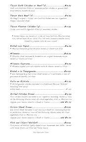 our menu amiga s bistro