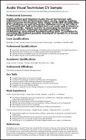 audio visual technician cv sample myperfectcv
