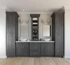 Grey Bathroom Cabinets Attractive Ready To Assemble Bathroom Vanities All Home In