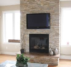 reface brick fireplace family room eclectic with none
