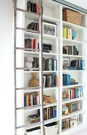 Billy Bookcase Diy Bookcase Bookcase With Ladder And Rail Ikea Billy Bookcase Hack
