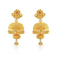 kerala earrings buy kerala christian malabar gold jimiki strdbis00677 for women