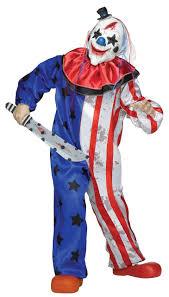 evil killer clown child costume boys creepy blue white red