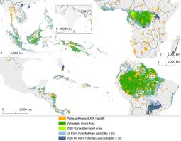 Map Of Mexico And South America by Where In The World Is Palm Oil Deforestation Union Of Concerned
