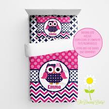 personalized owl bedding for kids preppy owl duvet or