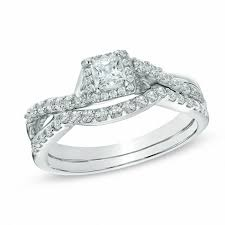 diamond wedding ring sets for bridal sets wedding zales