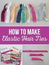 elastic hair ties how to make elastic hair ties the crafting