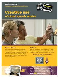 poster creative use of closet space speeds service labor