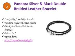 leather bracelet price images Pandora black double braided leather bracelet jpg