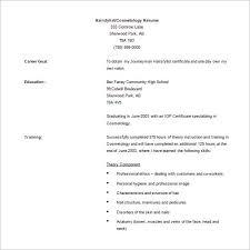 cosmetology resume 5 free word pdf documents download free premium