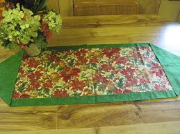 christmas ornament table runner hers and hems fiber arts