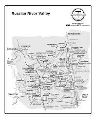 Oregon Winery Map by Russian River Valley Wine Road