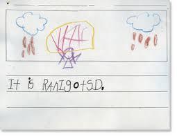 kindergarten writing sample 3 reading rockets