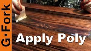 apply polyurethane wood finish how to gardenfork