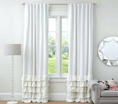 White Blackout Curtains 96 Ruffle Blackout Curtains Teawing Co