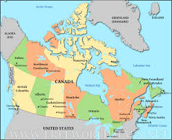 Us Political Map Download Us And Canada Map With Cities Major Tourist Attractions