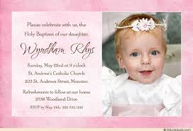 pink baptism or christening photo invitation sweet baby s