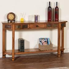 Entry Shelf Rustic Oak Entry Console With Drawer U0026 Shelf By Sunny Designs