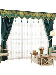 Blue Swag Valance New Arrival Denali Blue And Green Plain Waterfall And Swag Valance