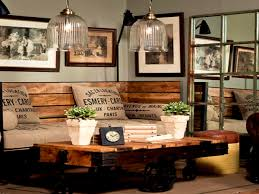 the living room of a rustic home with an industrial flavour 1240