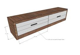 Diy Wooden Storage Bench by Bench With Drawers Walnut Classical Modern Wood Furniture Shoe