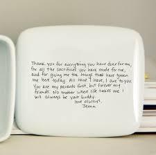 handwritten letter box message on top of box wedding thank