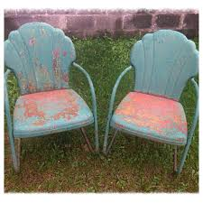 Retro Patio Furniture Vintage Metal Patio Chairs Interior Design