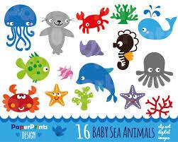 ocean animals clip art many interesting cliparts