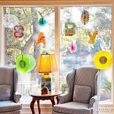window decorations windows hanging windows as decoration decor jungle baby shower