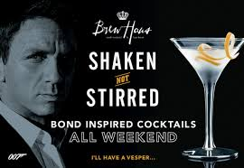 martini bond james bond spectre cocktails brew haus