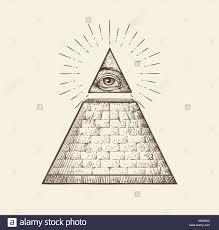 all seeing eye pyramid symbol order sketch