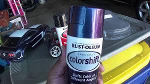 traxxas r c mustang boss 302 vxl colorshift paint job vid 1 of 4