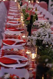 red and white picnic decorations house design ideas