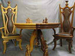 Nice Chess Sets by Chess Table Chairs U0026 Chess Set
