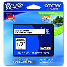 how to install brother p touch tape amazon com brother p touch tze231 1 2 0 47 black on white