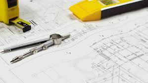 plan bureau up of detailed building plan architecture design