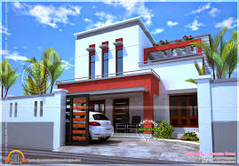 Flat Roof House Beautiful House Flat Roof Kerala Home Design And Floor Plans