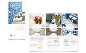 cleaning brochure templates free carpet cleaners tri fold brochure template design