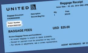 bag fee united find your ticket number