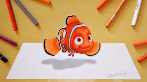 3d drawing nemo youtube