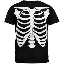 pregnant halloween skeleton costume halloween skeleton glow in the dark costume t shirt walmart com