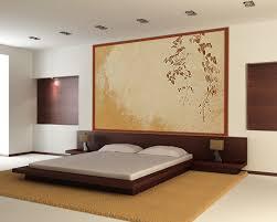 decor de chambre déco de chambre en couleurs beige avec décor mural design en tete de