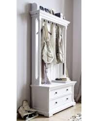 porte manteau armoire meuble d entrée blanc 5 portes manteaux