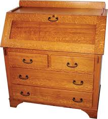 Mission Furniture Desk Four Drawer Mission Secretary Desk Indiana Amish Desk